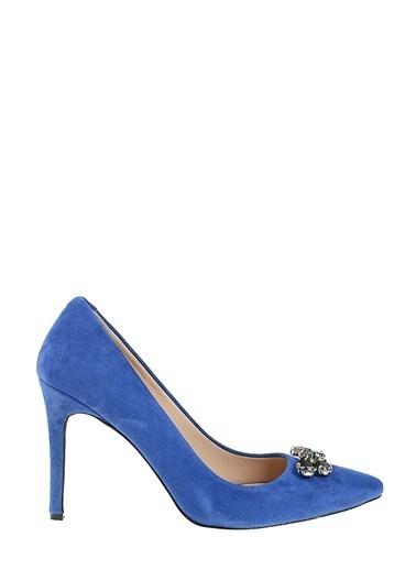 D by Divarese %100 Deri Abiye Ayakkabı Mavi